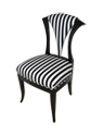 Black Replica Biedermeier Chair