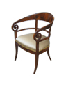 Walnut Replica Biedermeier Armchair