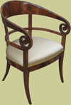 Biedermeier armchair replica