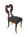 Walnut Replica Biedermeier Sidechair